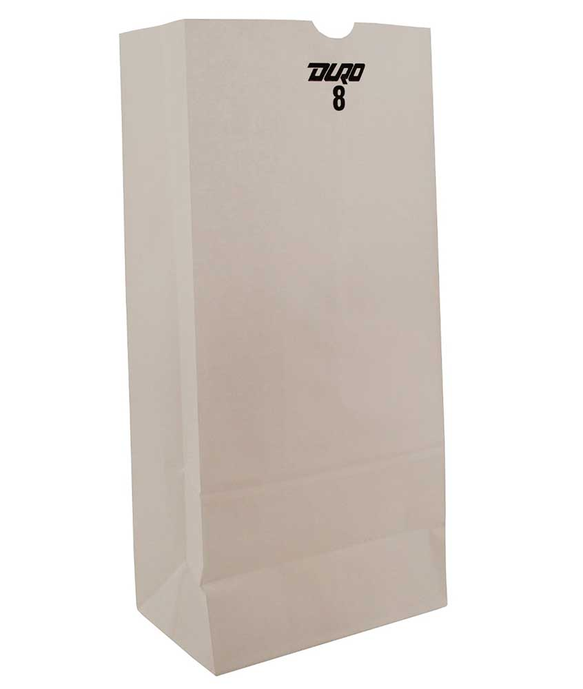 Duro Bag White 25lb Shorty Bag 51026