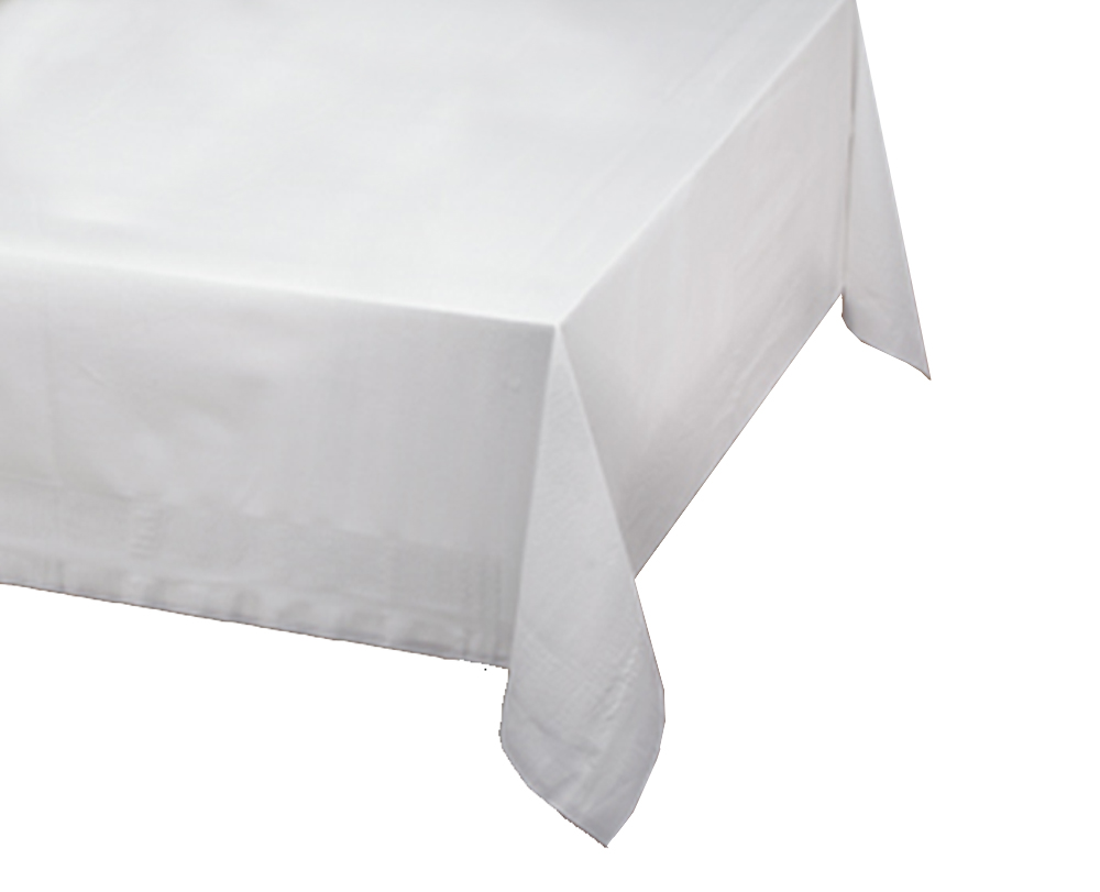 "Hoffmaster White 54""x108"" Plastic Table Cover 112000"