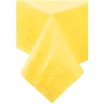 "Hoffmaster Yellow 54""x54"" 2ply Table Cover 220440"