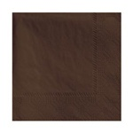 "Hoffmaster Chocolate 10""x10"" 2ply 1/4 Fold Beverage Napkin 180354"