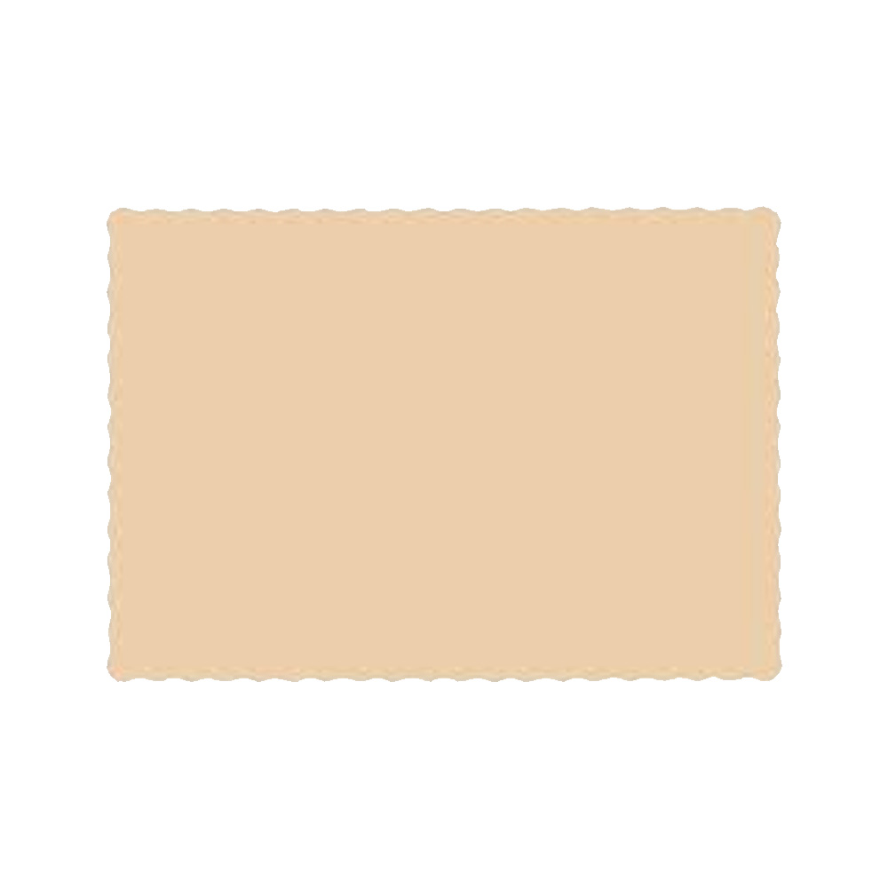 "Hoffmaster Beige 10""x14"" Placemat PP41052"