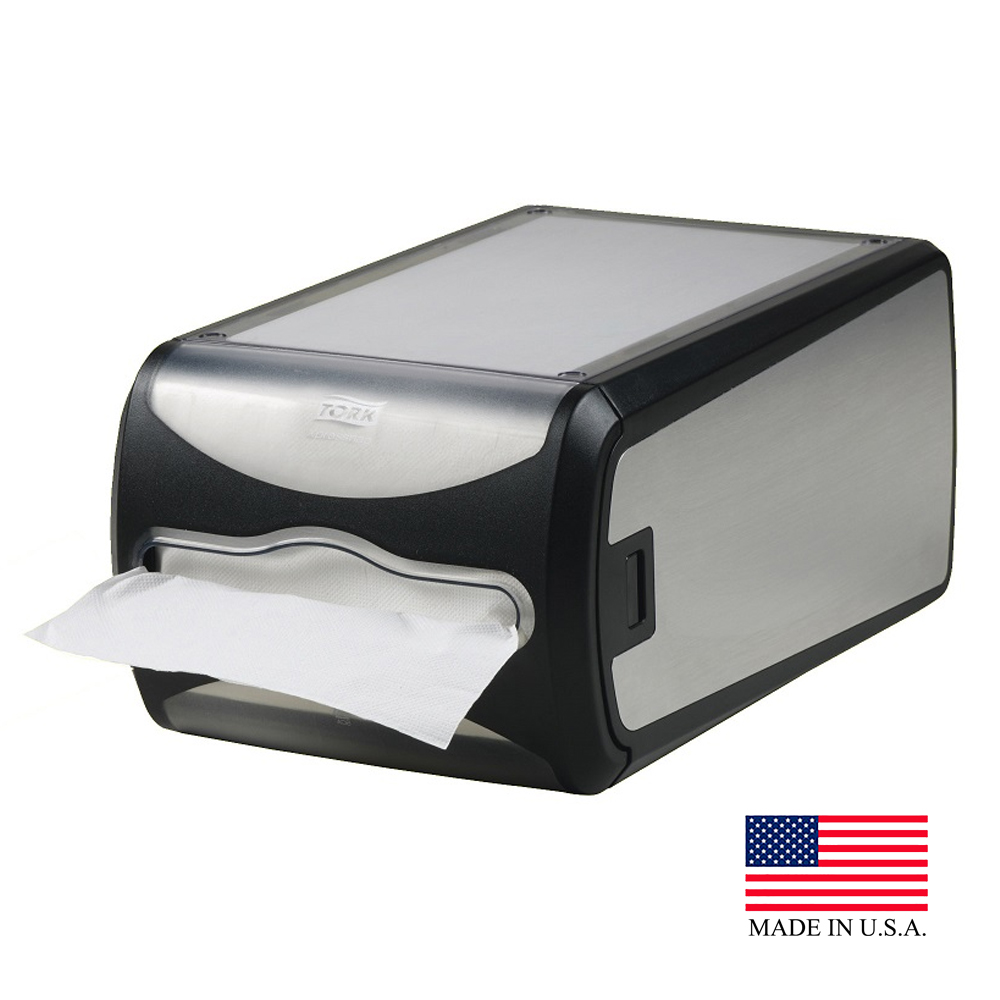 SCA Stainless Steel Tork Xpressnap Counter Napkin Dispenser 6435000