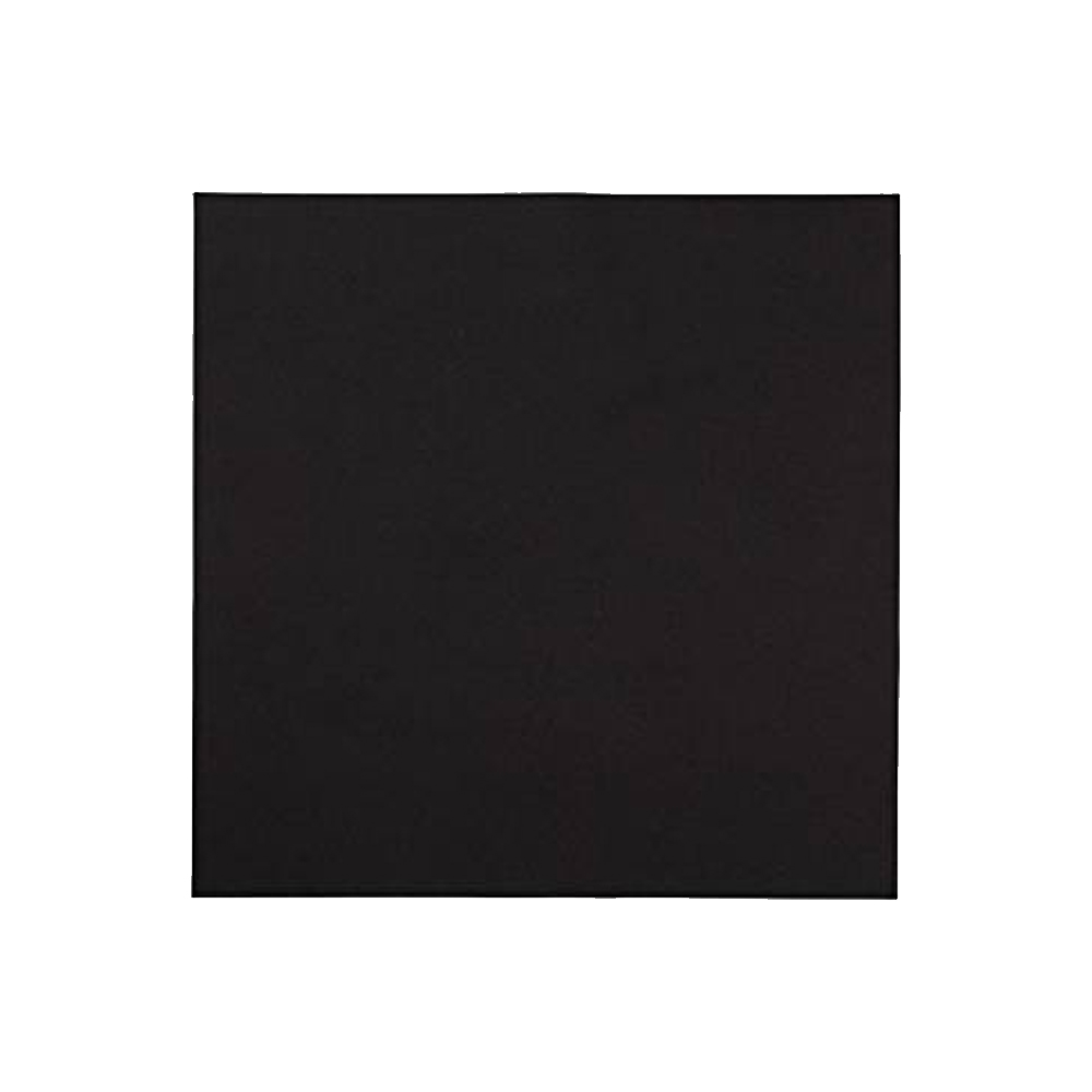 "Hoffmaster - Black 16""x16"" 1 ply Linen Like Paper Napkin With Band 125070"