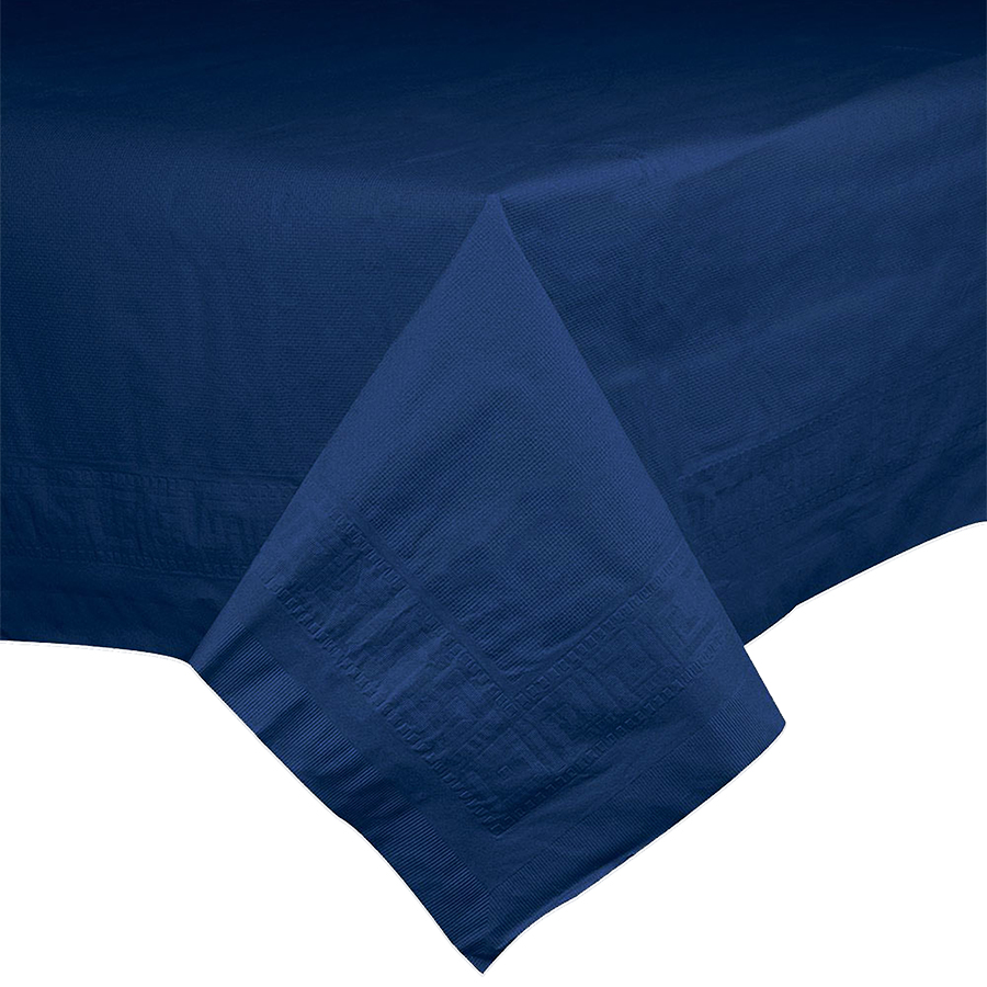 "Hoffmaster Navy 54""x54"" Table Cover 220422"
