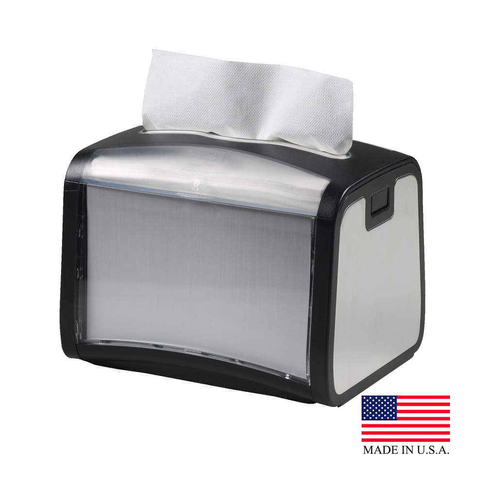 SCA Stainless Steel Tork Xpressnap Tabletop Napkin Dispenser 6235000