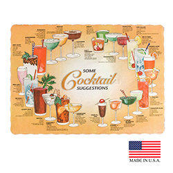 "Superior Laminators Inc. - Cocktail Print 10""x14"" Placemat PM128"
