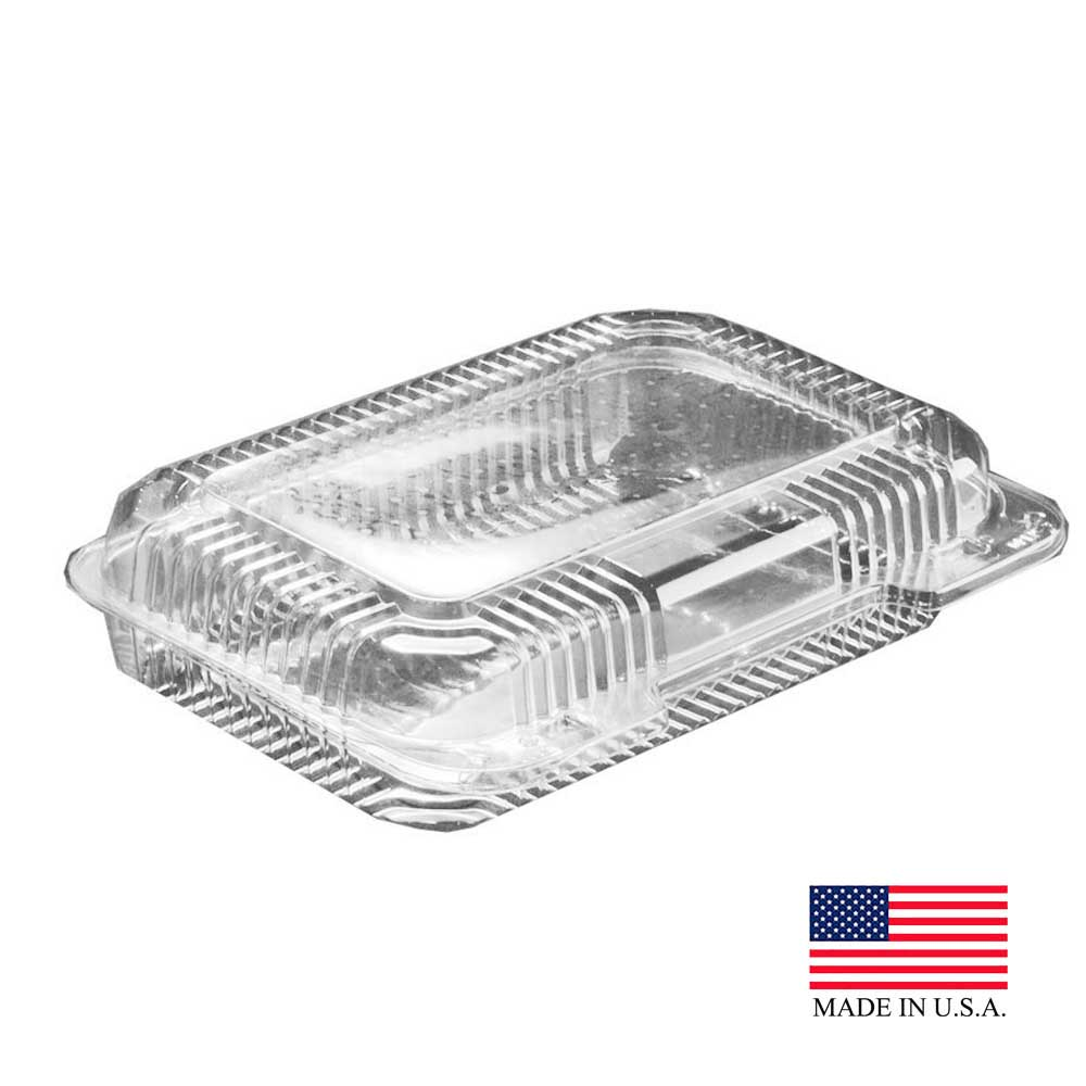 Dart Clear Shallow Oblong Hinged Container PET30UT1