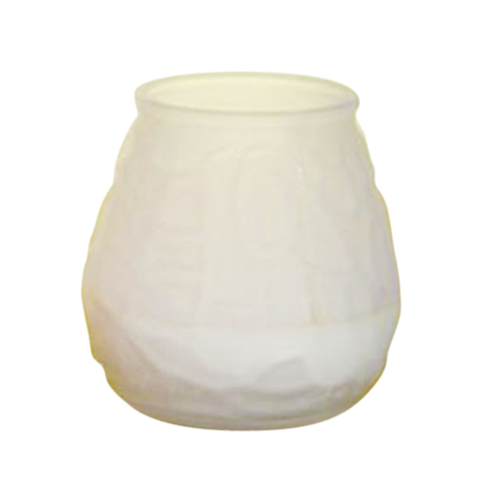 Fancy Heat Frost Fancy Lite Disposable Victorian Glass Candle F460FROST