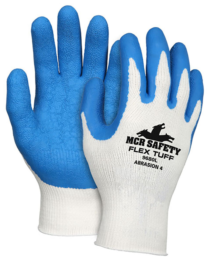 Ball Trading Medium Textured Latex Palm And Fingertip Dipped Cotton Glove 9680M