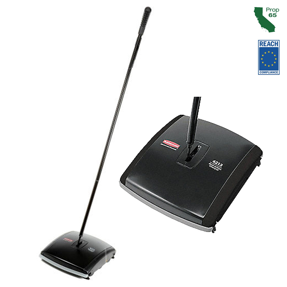 "Rubbermaid Commercial - Executive Series Black 7.5"" Dual Action Bristle Floor Sweeper FG421388B"