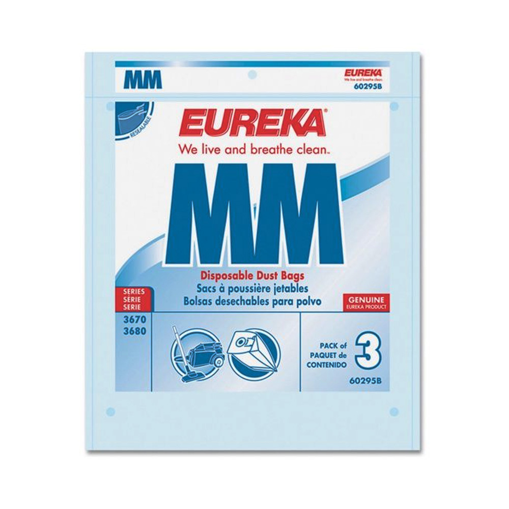 M&M Vacuum Cleaner - Eureka Disposable 3 Pack Hepa Dust Bags 45-0220011