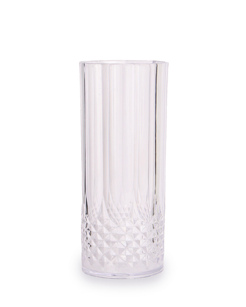 Clear 48 Count Crystal Like Plastic Highball Glass1628