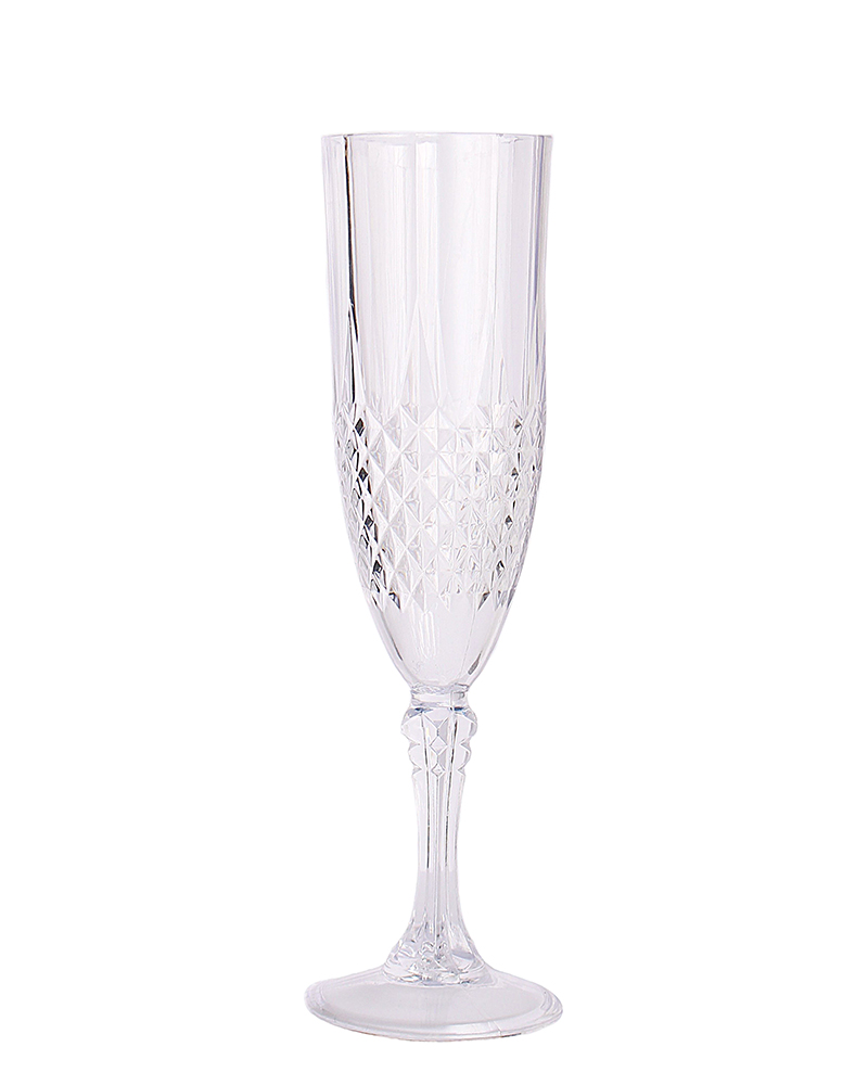 Clear 48 Count Crystal Like Plastic Champagne Flute 1655