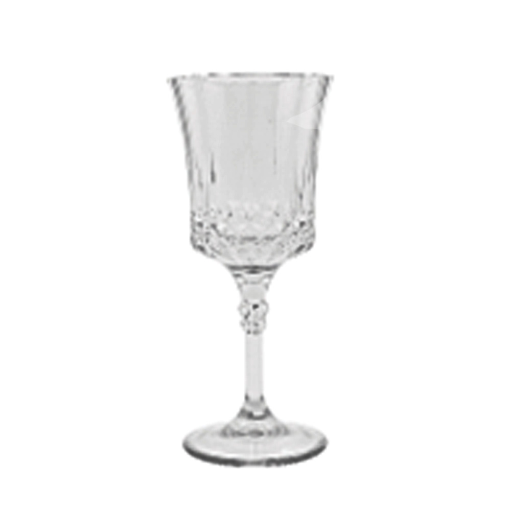 Clear 48 Count Crystal Like Plastic               French Goblet 1818