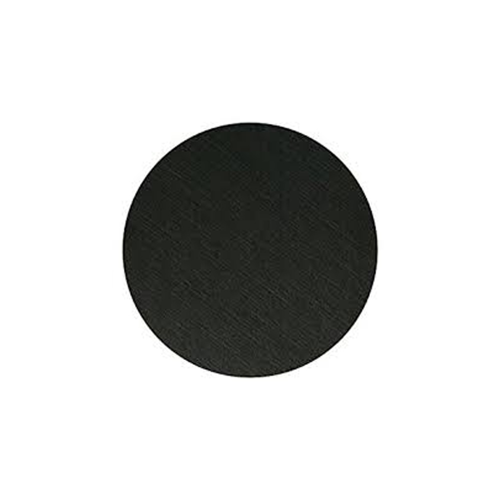 "Hoffmaster Black 4"" Double Sided Round Coaster 876107"